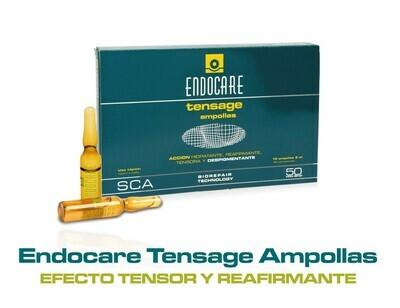 ENDOCARE Tensage Ampollas 10 x 2ml. • Reafirmante-Tensora.• Regeneradora anti-arrugas. • Hidrante integral. • Aclarante Iluminadora.
