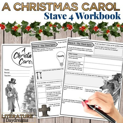 Christmas Carol Chapter 4 workbook
