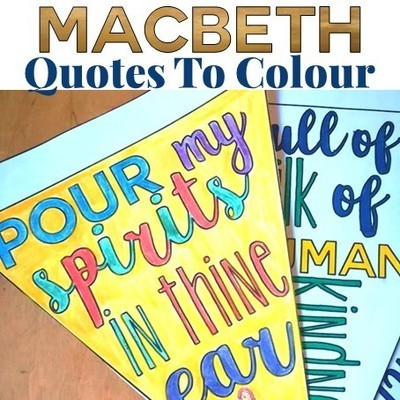 Macbeth Quotes To Colour
