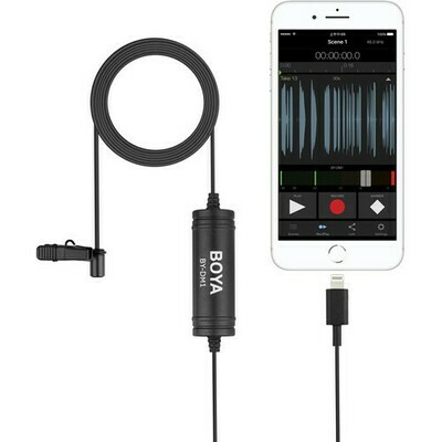 Boya DM1 Lightning omnidirectional lavalier mic for iOS devices