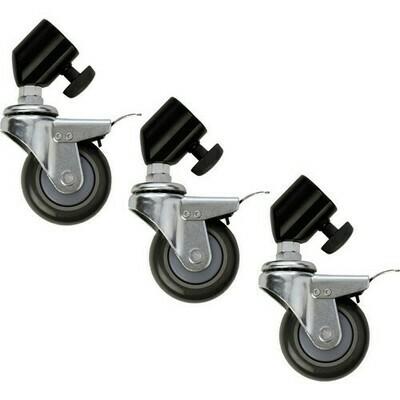 Lightbug Locking Caster Set for Light Stands