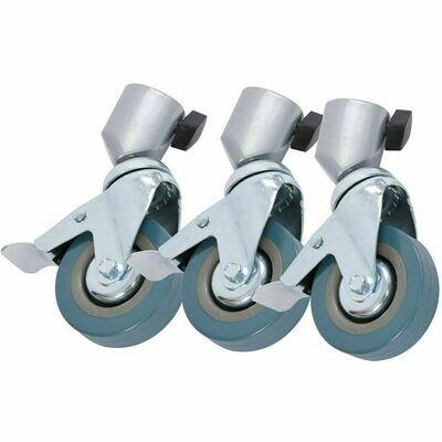 3x Swivel Caster Brake Rubber Wheel Studio Tripod Stand 25mm