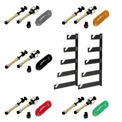 Lightbug 5-Roller Manual Chain Background Support Kit