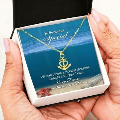 Send A Special Message Card (Anchor) - Customised Design Service
