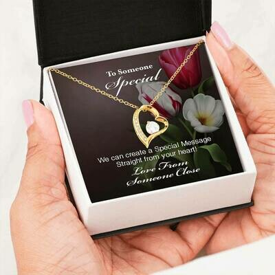 Send A Special Message Card (Forever Love) - Customised Design Service