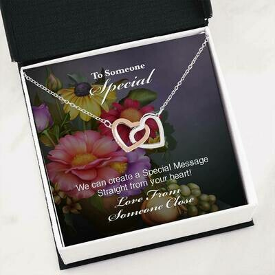 Send Special Message Card (Interlocking Hearts)- Customised Design Service