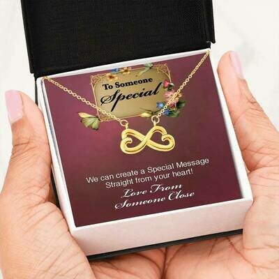 Send A Special Message Card (Infinity) - Customised Design Service