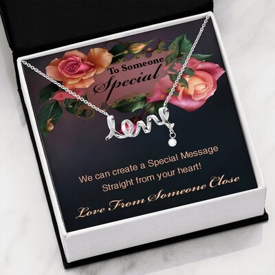 Send A Special Message Card (Scripted Love) - Customised Design Service