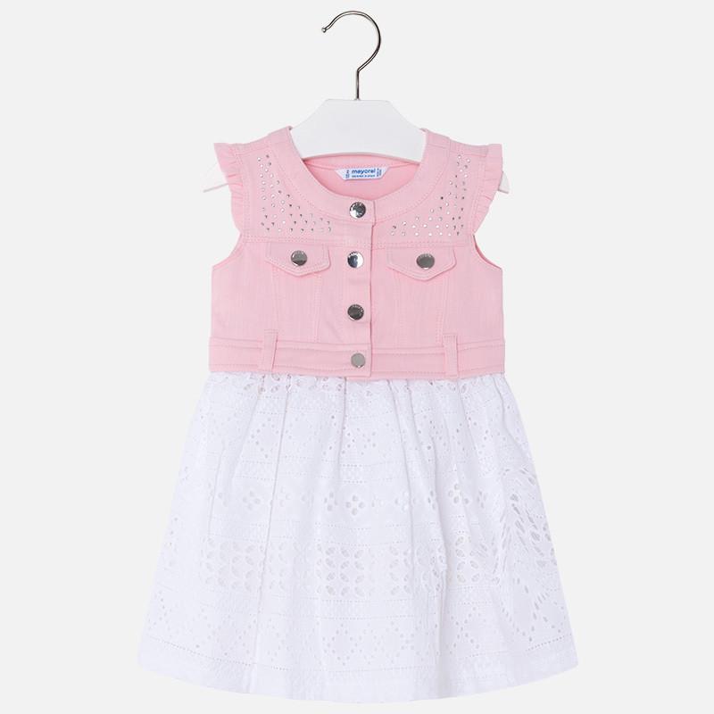 Denim & Eyelet Dress 3976 7