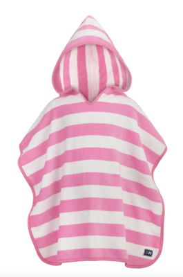 Pink Stripe Hooded Towel