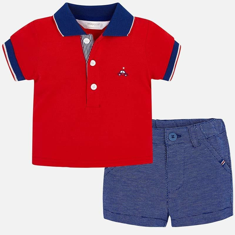 Polo Shorts Set 1215 2/4m