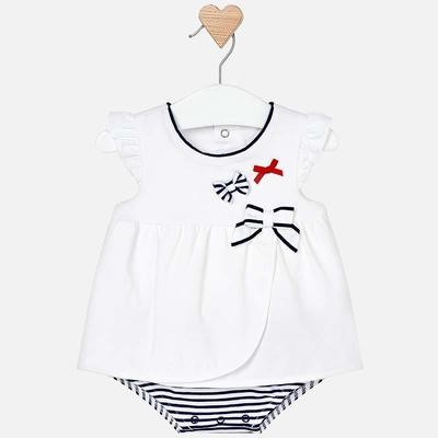 Navy Stripe Bodysuit 1801 1/2m