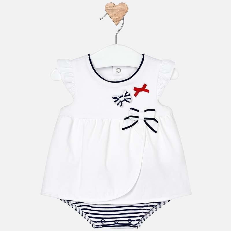 Navy Stripe Bodysuit 1801 6/9m