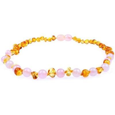 Amber Necklace - Rose Quartz/Amber