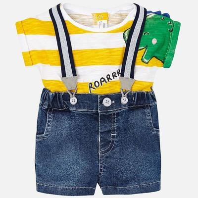 Suspender Shorts Set 1217 6/9m