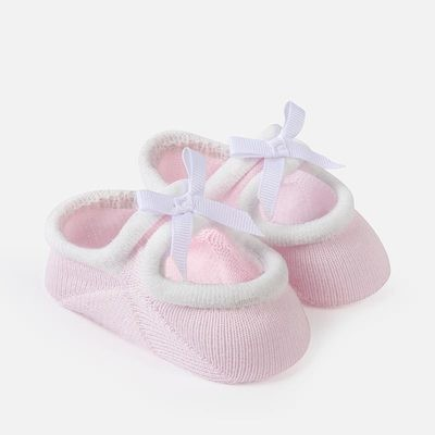 Pink Booties 0m