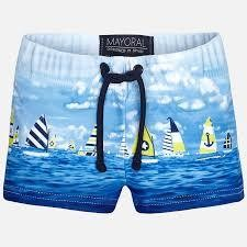 Yellow Sailboats Swim Shorts 1689 12m