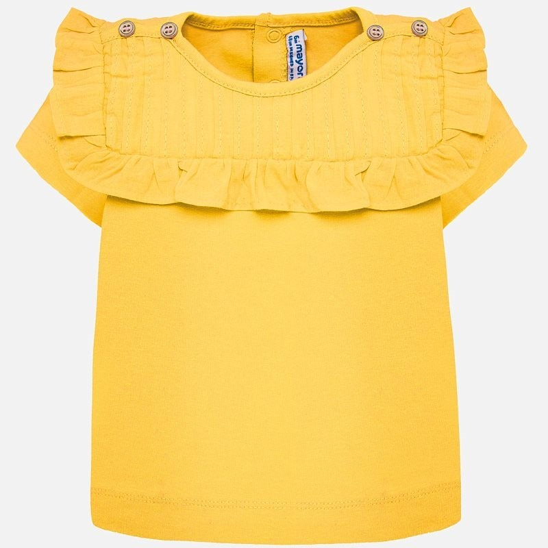 Yellow Pleated Shirt 1013 12m