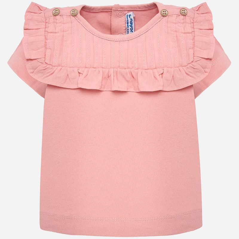 Pink Pleated Shirt 1013R 12m