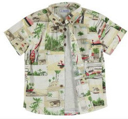 Tropical Print Layered Shirt 3158-4