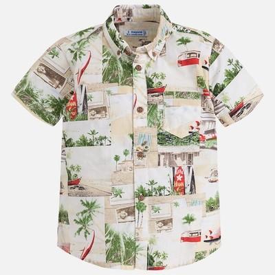 Tropical Print Layered Shirt 3158-4