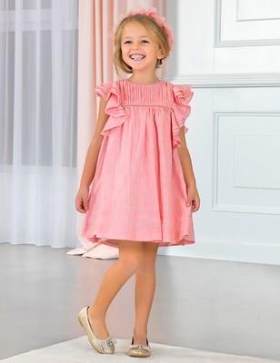 Ruffled Chiffon Dress - 4