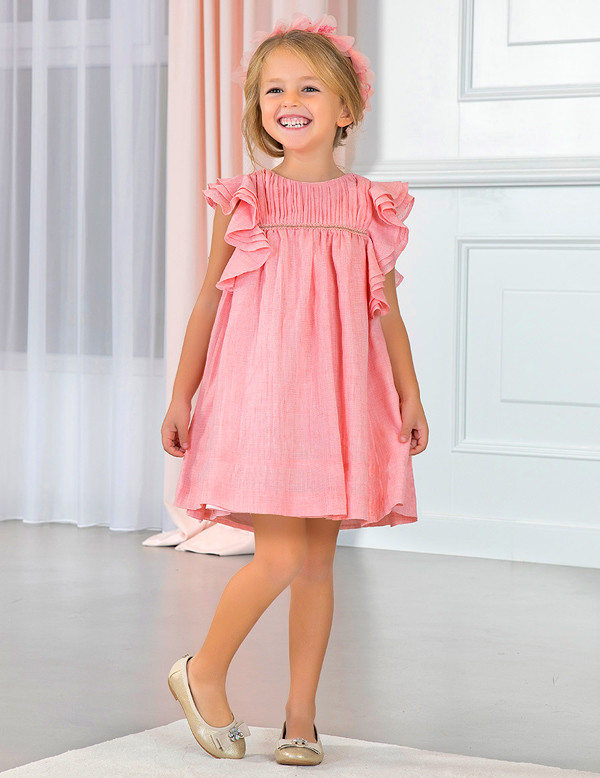 Ruffled Chiffon Dress - 8