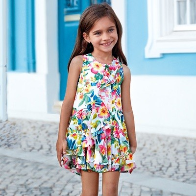 Tropical Print Dress 3941 - 6