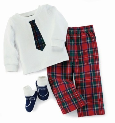 Holiday Best 3pc Plaid Set