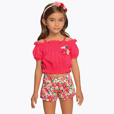 Flamingo Shorts Set 3217 - 7