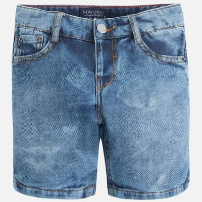 Embroidered Denim Shorts 3217-4