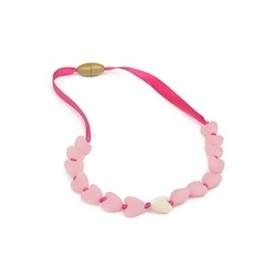 Spring Heart Necklace - Bubble Gum