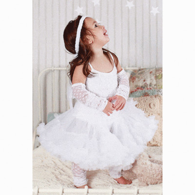 White Pettidress 1/2y