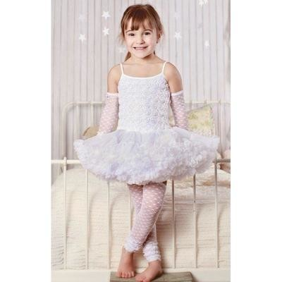 White Pettidress 4/6y