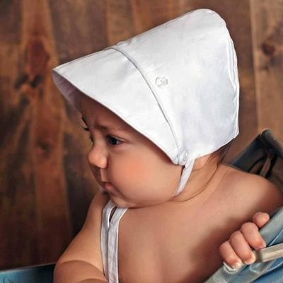 Boy White Bonnet 3/6m