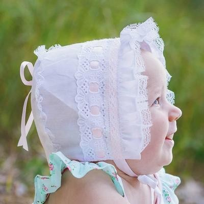 Pink Ribbon Bonnet 6/12m
