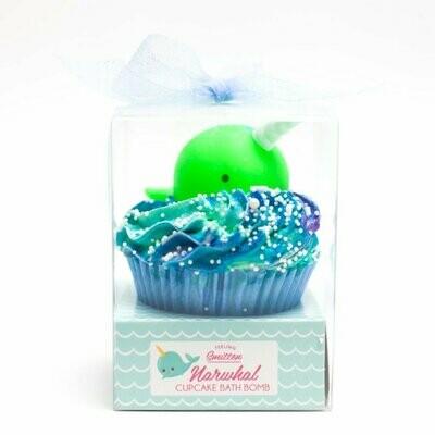 Narwhal Cupcake Bath Bomb