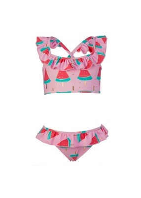 Watermelon Ruffle Bikini - 4