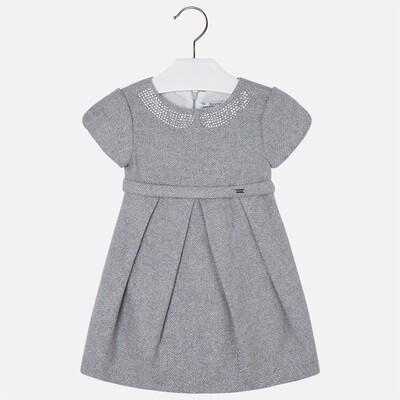 Silver Strass Collar Dress 4925A-7