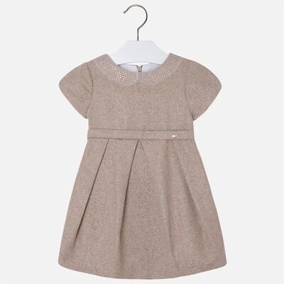 Gold Strass Collar Dress 4925V-2
