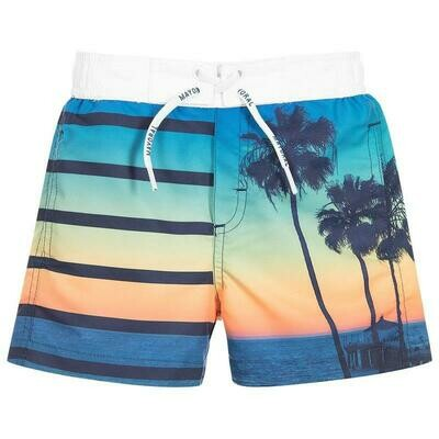 Sunset Print Swim Shorts 3617-3