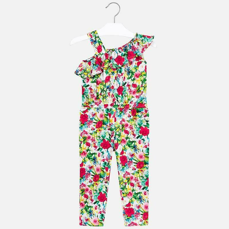Floral Print Jumpsuit 3802 - 6
