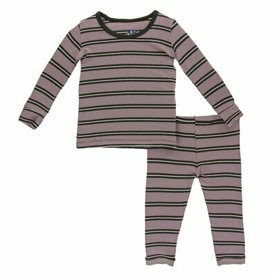 Elderberry Stripe Pajama Set -  5