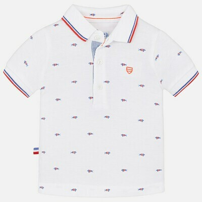 Fish Print Polo Shirt 1136 9m