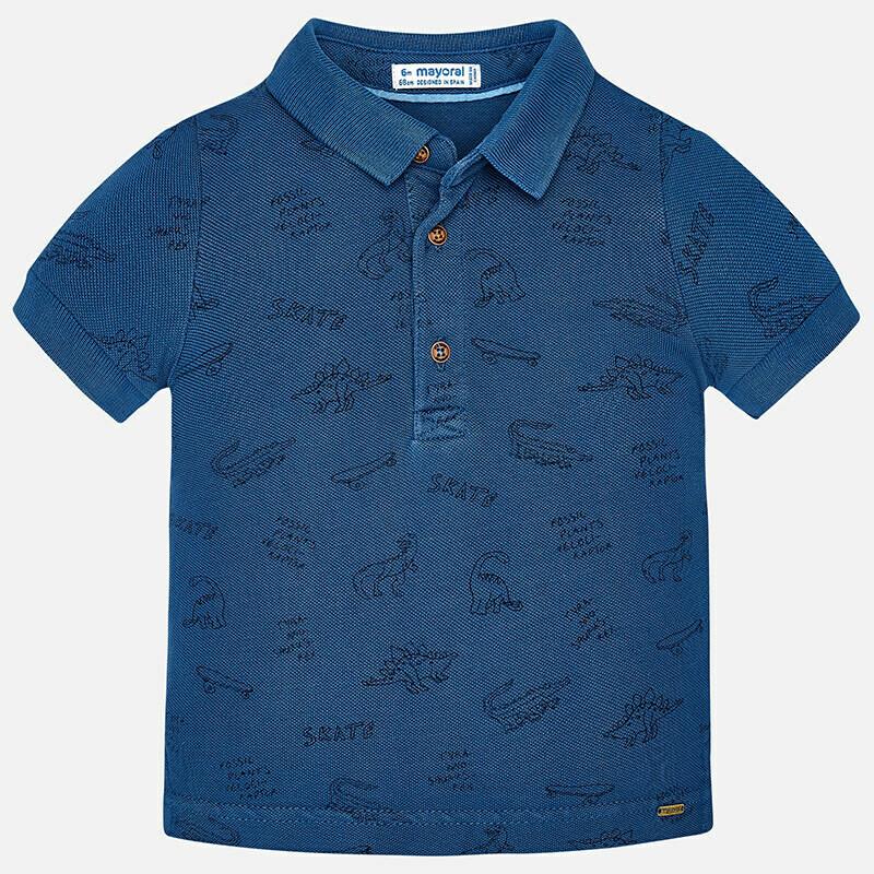 Dinosaur Print Polo Shirt 1142S 9m