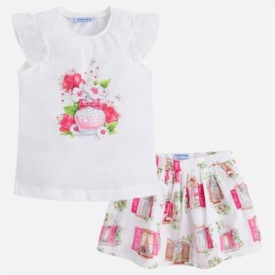 Floral Skirt Set 3993 4