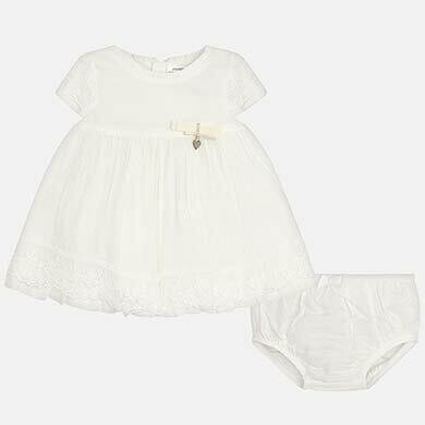 Embroidered Tulle Dress Set 1825 12m