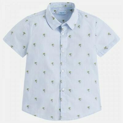 Palm Tree Print Shirt 3148-8