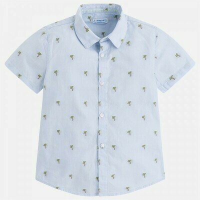 Palm Tree Print Shirt 3148-6