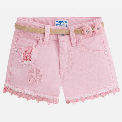 Pink Denim Shorts 3216 6
